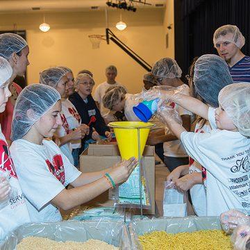 Charity project in christian kindergarten