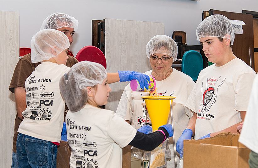 Hearts and hunger project in private schools in harrisonburg va