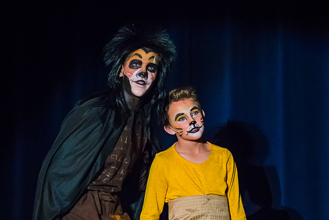 Lion King play for middle school art lessons