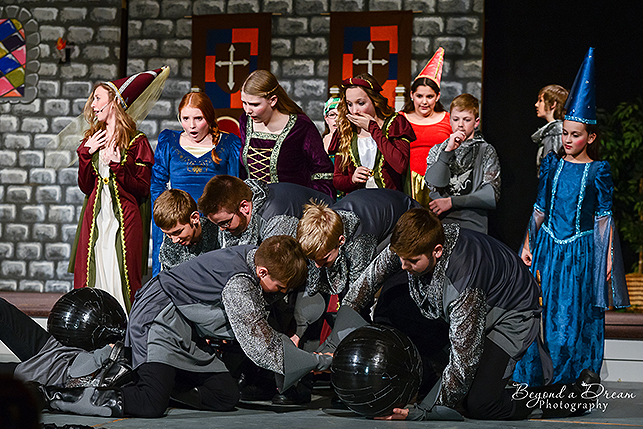 a once upon a mattress play for middle school art