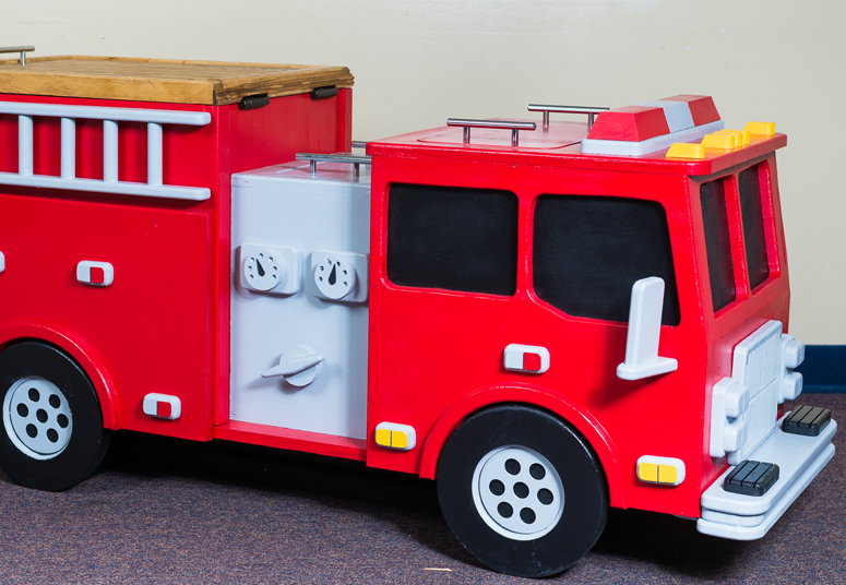 Fire truck in a fun event in faith kindergarten