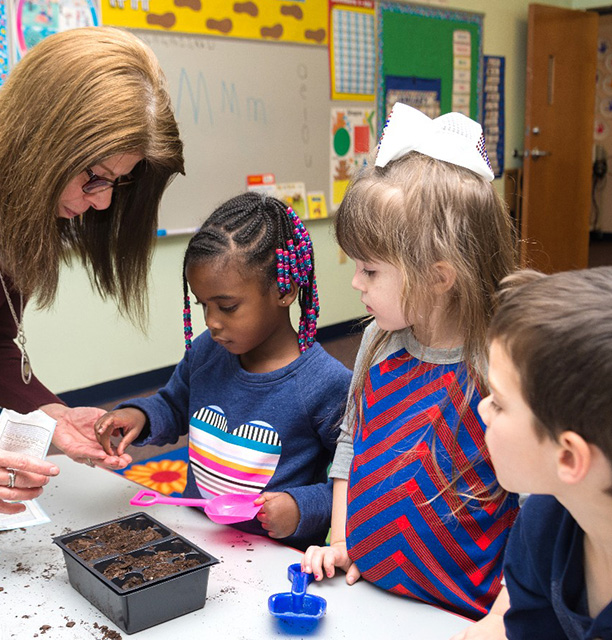 kids at preschool in Harrionburg, VA